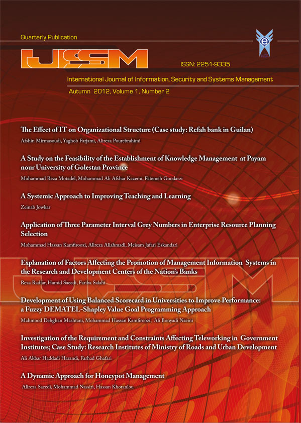 International Journal of Information, Security and Systems Management
